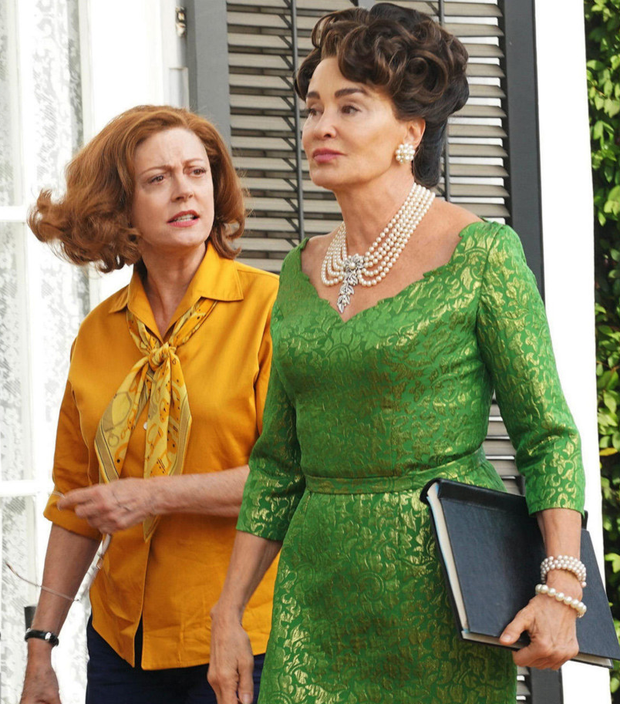 Susan Sarandon as Bette Davis and Jessica Lange as Joan Crawford in Feud: Bette and Joan