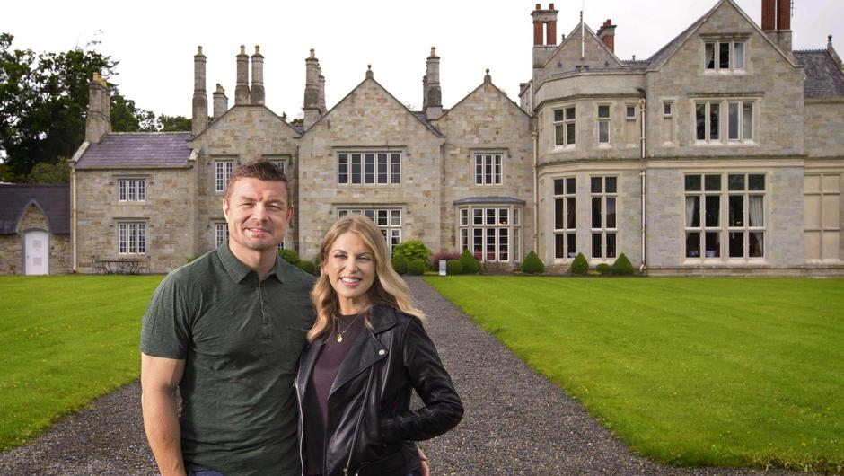 Amy Huberman with her husband, former Ireland rugby international Brian O'Driscoll. Photo: Brian Farrell