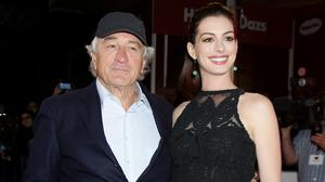 Robert de Niro and Anne Hathaway at the premiere of The Intern in Leicester Square