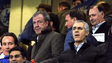 Jeremy Clarkson in the stands during the UEFA Champions League Round of Sixteen match at Stamford Bridge, London.