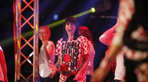 Claudia Winkleman at the Comic Relief Danceathon for Red Nose Day