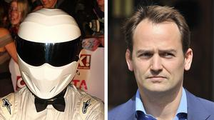 Ben Collins, the racing driver who was The Stig, right, on Top Gear for eight years