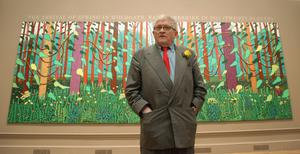 David Hockney during an exhibition at the Royal Academy (Yui Mok/PA)
