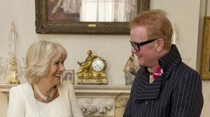 The Duchess of Cornwall meeting Radio 2 presenter Chris Evans
