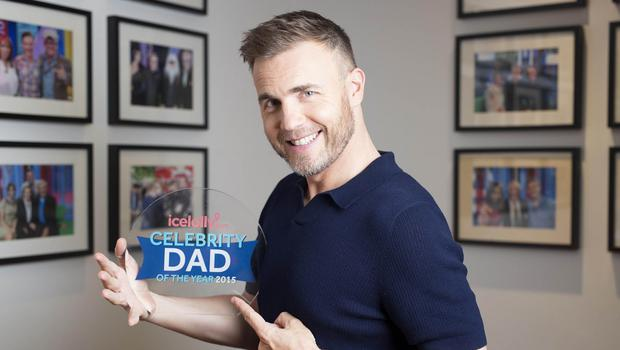 Gary Barlow has been named icelolly.com's Celebrity Dad Of The Year