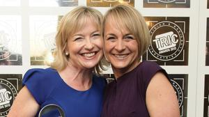 Carol Kirkwood (left) and Louise Minchin accidentally wore the same dress on BBC Breakfast