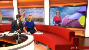 Video grab taken from BBC News of BBC Breakfast presenters Charlie Stayt and Louise Minchin, and weather presenter Carol Kirkwood (BBC News/PA)