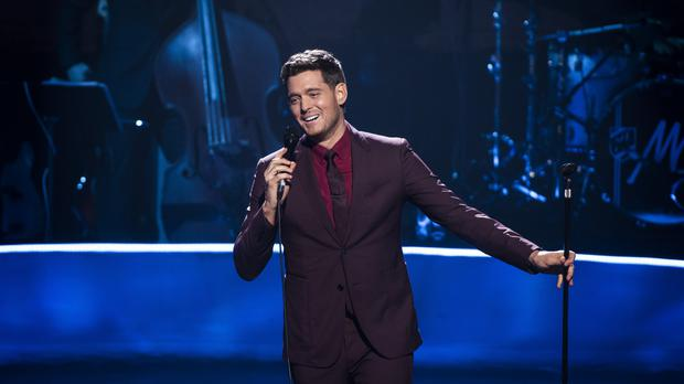 Michael Buble performing in Camden, London