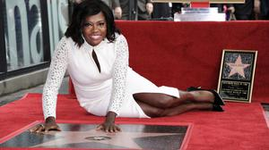 Actress Viola Davis appears at a ceremony honouring her with a star on the Hollywood Walk of Fame (AP)