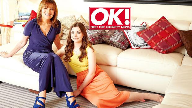 Lorraine Kelly and her daughter Rosie appear in this week's edition of OK! Magazine (OK! Magazine/PA)