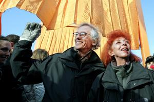 Christo and his wife and partner Jeanne-Claude (Richard Drew/AP)