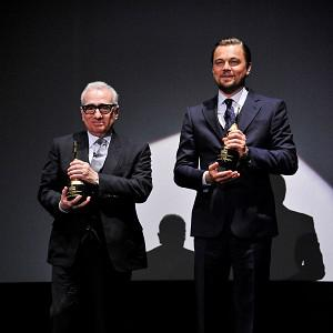 Martin Scorsese and Leonardo DiCaprio received the Cinema Vanguard Award