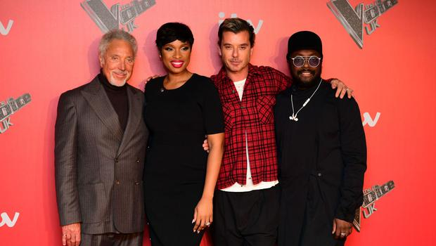 The Voice UK coaches - Sir Tom Jones, Jennifer Hudson, Gavin Rossdale and Will.i.am