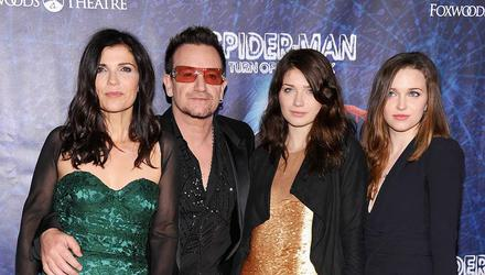 Bono with his wife Ali Hewson and their daughters Eve and Jordan