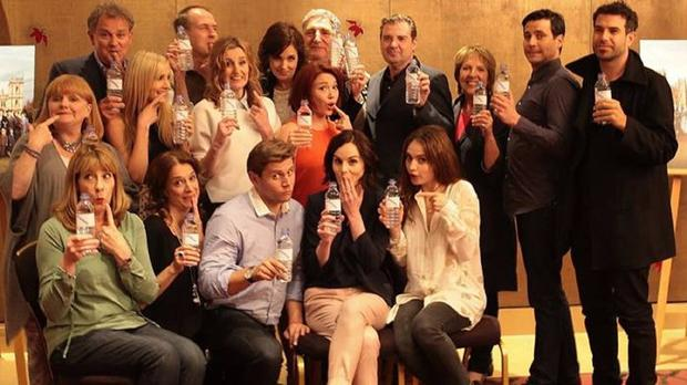 Downton Abbey's cast released a fun photo hitting back at the show's water bottle blooper