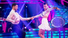 Georgia May Foote with dance partner Giovanni Pernice during dress rehearsals for Strictly Come Dancing (BBC/PA)