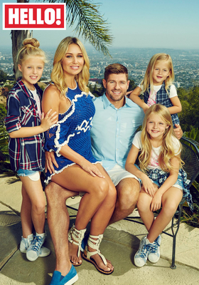 Steven Gerrard (35), his wife Alex and their daughters, Lily-Ella, Lexie and Lourdes who appear in this week's edition of Hello! Magazine