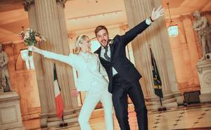 Laura Whitmore shared her first wedding photo with fans on Instagram
