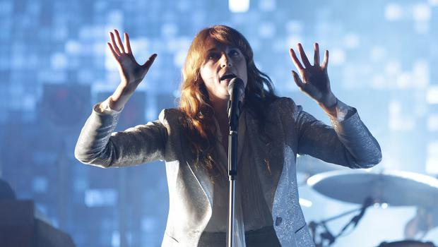 Florence + The Machine performing on the Pyramid Stage