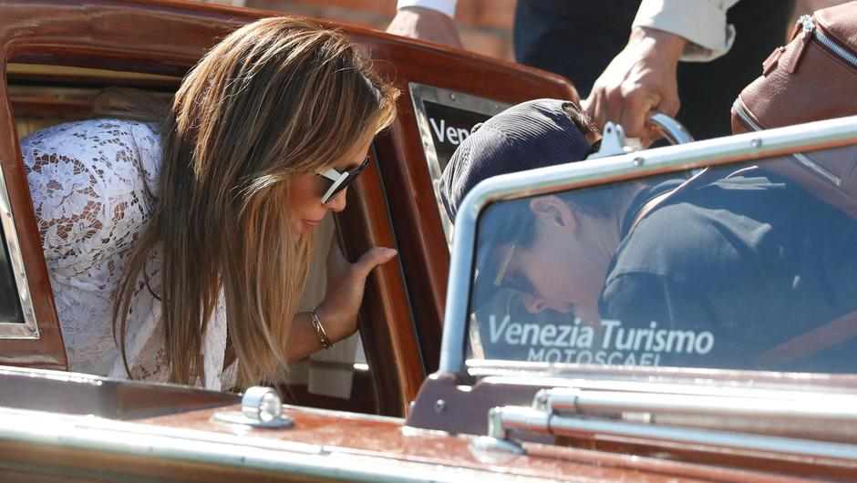 Jennifer Lopez and Ben Affleck arrive in Venice, Italy, for the screening of The Last Duel at the Venice Film Festival. Photo: Yara Nardi/Reuters