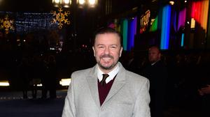 Ricky Gervais has joined the fight to free a bear that is an attraction at an ice cream shop