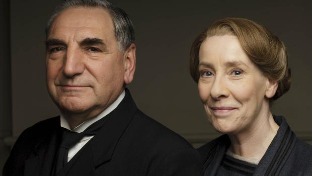 Jim Carter as Mr Carson and Phyllis Logan as Mrs Hughes in Downton Abbey (ITV/PA)