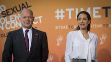 William Hague and actress Angelina Jolie Pitt will continue to work together at the London School of Economics