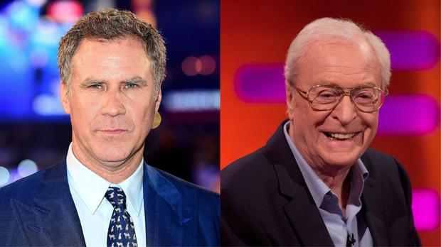 Actors Will Ferrell and Michael Caine