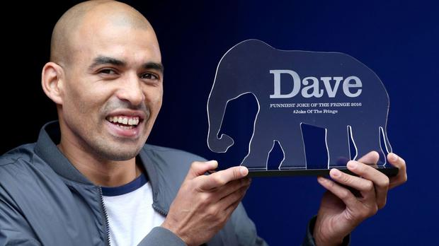 Masai Graham has scooped the Dave's Funniest Joke Of The Fringe Award