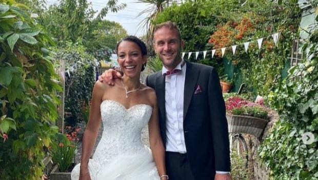 'Happy Pear' co-founder with new bride Sabrina Vande Cotte at their wedding in Gresytones Co Wicklow over the weekend. Pic Credit: The Happy Pear