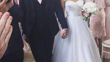 Twitter picture showing Tommy Bowe walking down the aisle with new wife Lucy Whitehouse