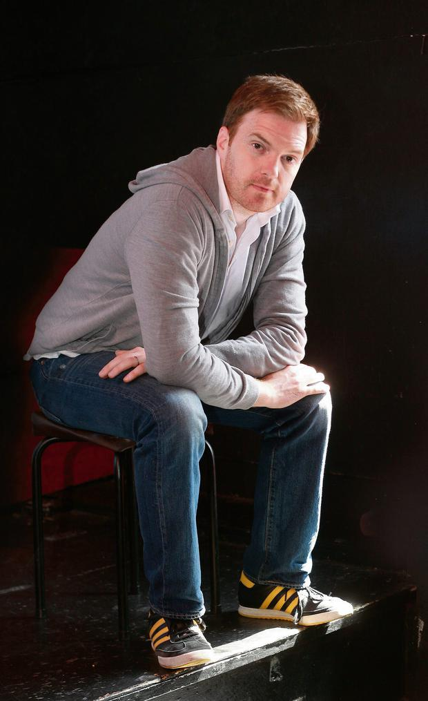 Bernard O'Shea at the International comedy club Me Myself I ring Pix Ronan Lang/Feature File