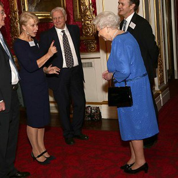 Dame Helen Mirren and the Queen have met at Buckingham Palace