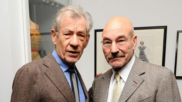 Sir Ian McKellen and Sir Patrick Stewart have been appearing on stage together in New York