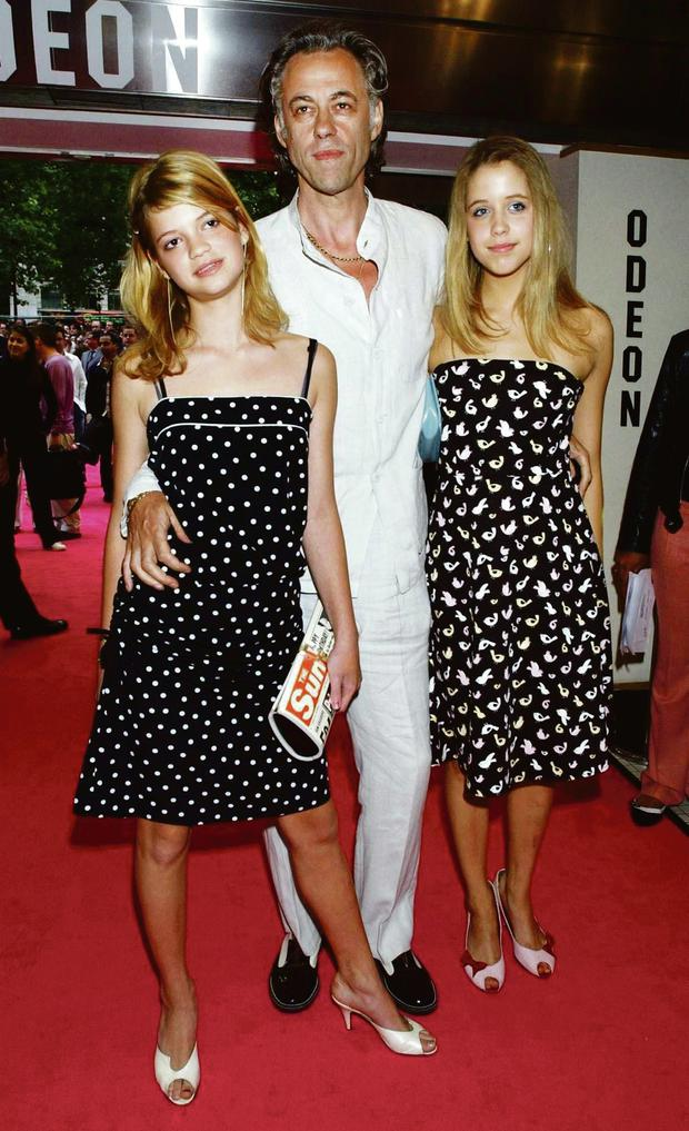 Bob Geldof with daughters Pixie and Peaches in 2003