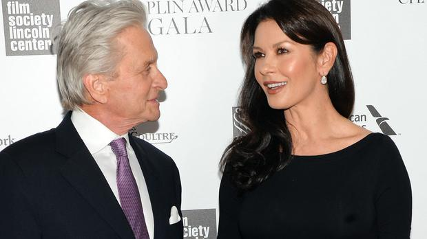 Michael Douglas has said he and Catherine Zeta-Jones are doing well