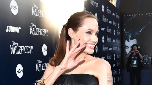 Angelina Jolie at the world premiere of Maleficent