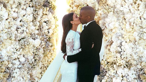 Kim Kardashian and Kanye West's wedding photo has broken the record for the most likes on Instagram