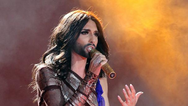 Austrian singer and Eurovision Song Contest winner Conchita Wurst (AP)