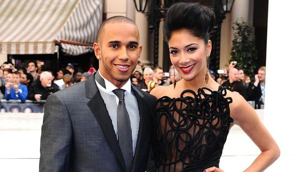 Nicole Scherzinger and Lewis Hamilton met the Pope on a trip to Italy