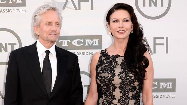 Michael Douglas and Catherine Zeta-Jones attended the Lifetime Achievement Award Tribute Gala honouring Jane Fonda together
