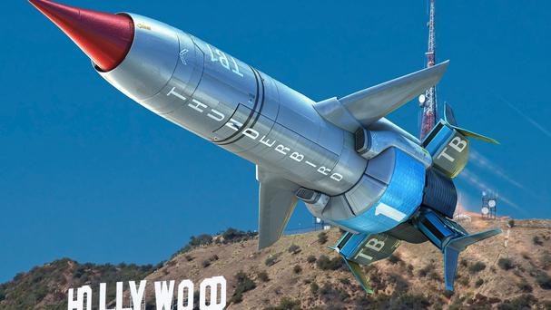 The new Thunderbird 1 which will feature in Thunderbirds Are Go!