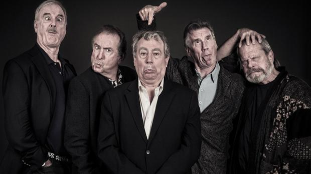 John Cleese, Eric Idle, Terry Jones, Michael Palin and Terry Gilliam will take to the stage in London this week