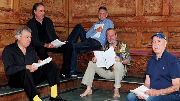 Terry Jones, Eric Idle, Michael Palin, Terry Gilliam and John Cleese of Monty Python