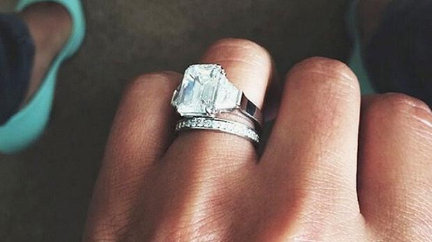 Screen grab taken from the Instagram account of Cheryl Cole showing her wedding ring