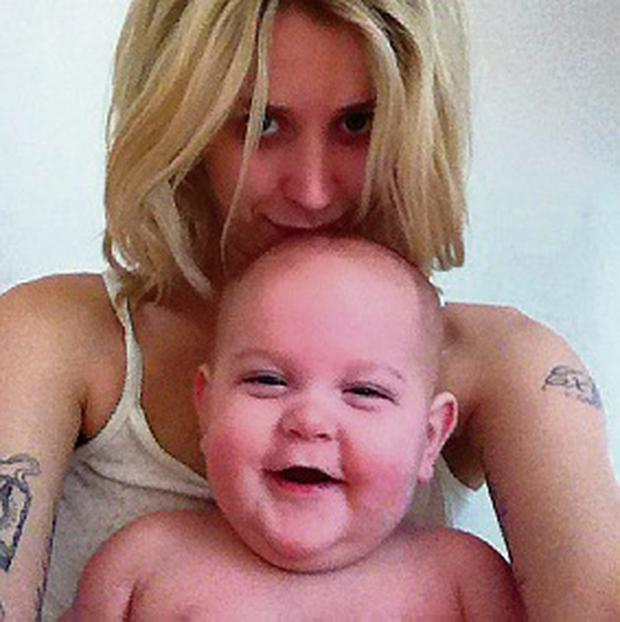 Peaches Geldof and her baby son Astala