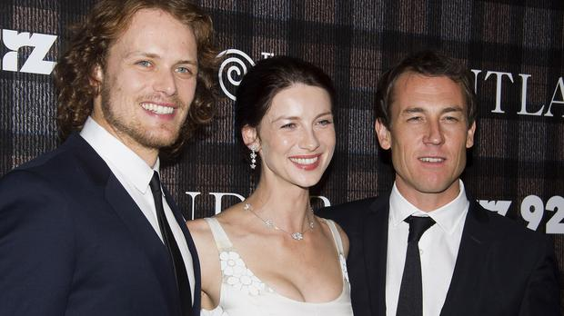 Sam Heughan, Caitriona Balfe and Tobias Menzies star in fantasy series Outlander