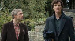 Martin Freeman and Benedict Cumberbatch star in Sherlock
