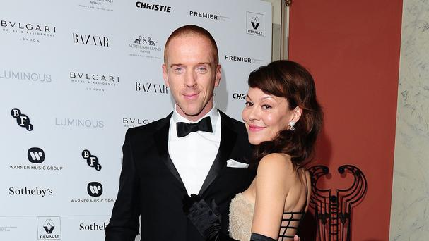 Damian Lewis and his wife Helen McCrory
