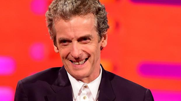Peter Capaldi during filming of The Graham Norton Show